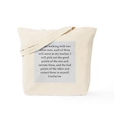 confucius wisdom Tote Bag
