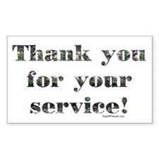 Thank You Armed Forces CAMO Rectangle Decal