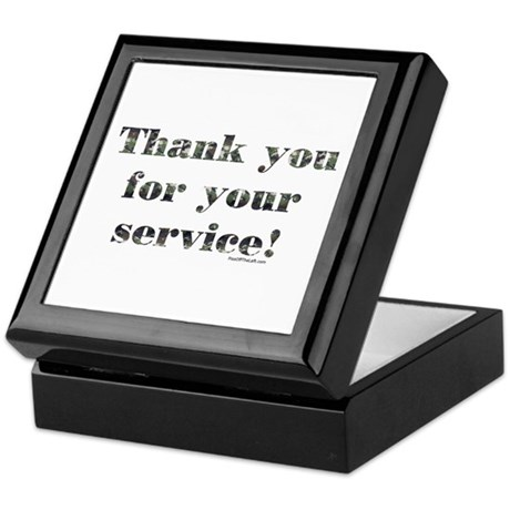 Thank You Armed Forces CAMO Keepsake Box
