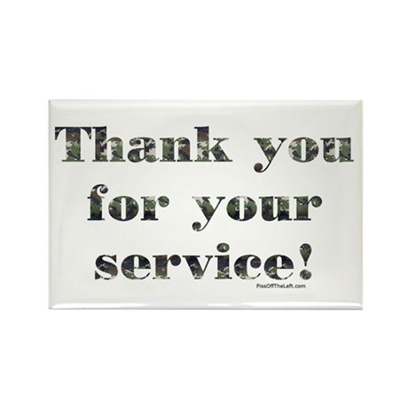 Thank You Armed Forces CAMO Rectangle Magnet (10 p