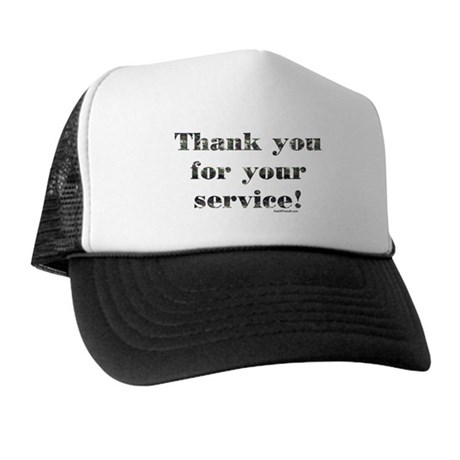 Thank You Armed Forces CAMO Trucker Hat