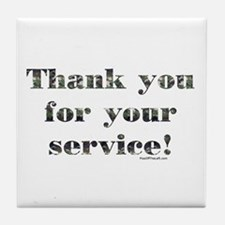 Thank You Armed Forces CAMO Tile Coaster