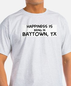 Happiness is Baytown Ash Grey T-Shirt