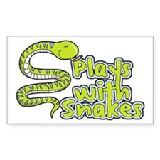 Plays with Snakes Decal