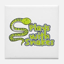 Plays with Snakes Tile Coaster