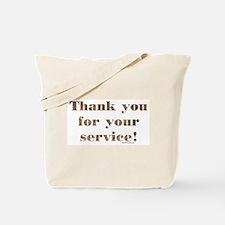 Desert Camo Servicemen Thank You Tote Bag