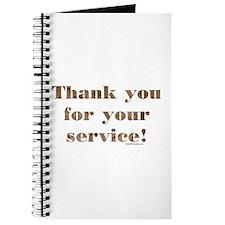 Desert Camo Servicemen Thank You Journal