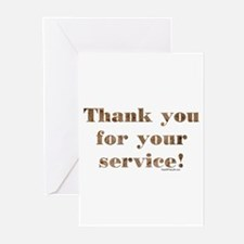 Desert Camo Servicemen Thank You Greeting Cards (P
