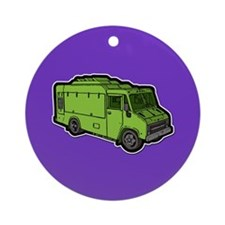 Food Truck: Basic (Green) Ornament (Round)