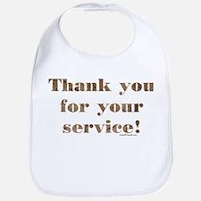 Desert Camo Servicemen Thank You Bib