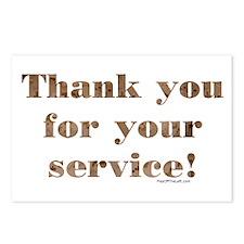 Desert Camo Servicemen Thank You Postcards (Packag