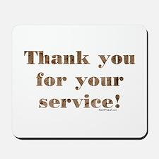 Desert Camo Servicemen Thank You Mousepad