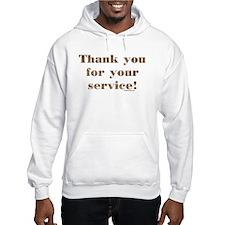 Desert Camo Servicemen Thank You Hoodie
