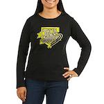 Bladder Cancer Survivor Women's Long Sleeve Dark T