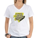 Bladder Cancer Survivor Women's V-Neck T-Shirt