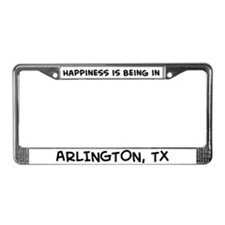 Happiness is Arlington License Plate Frame