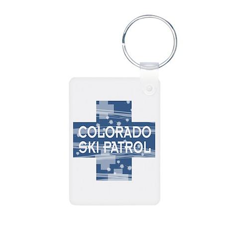 Colorado Ski Patrol Aluminum Photo Keychain