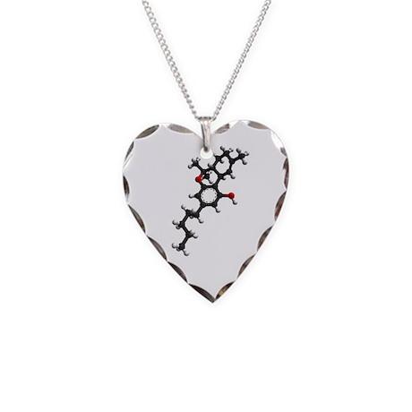 thc molecule necklace by pinkeyedjim