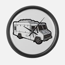 Food Truck: Basic (White) Large Wall Clock
