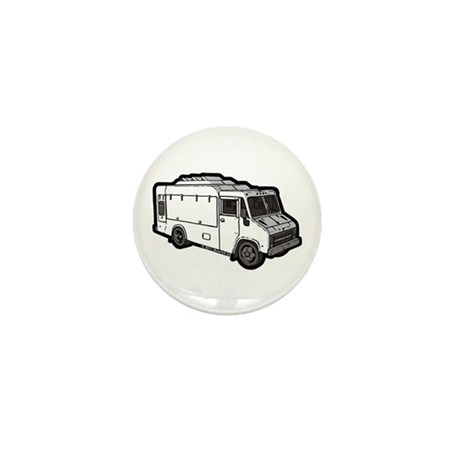Food Truck: Basic (White) Mini Button