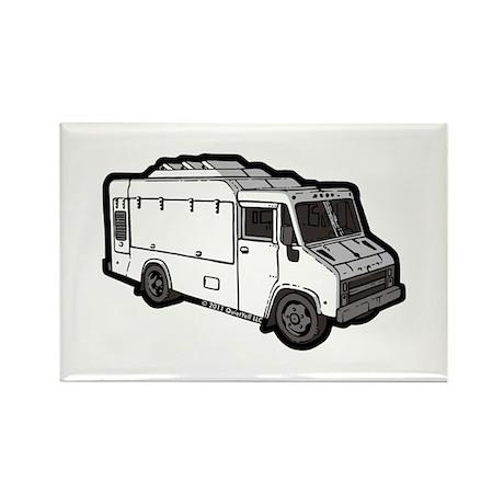 Food Truck: Basic (White) Rectangle Magnet (100 pa