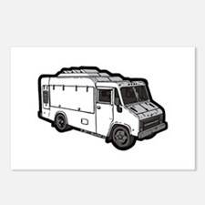 Food Truck: Basic (White) Postcards (Package of 8)