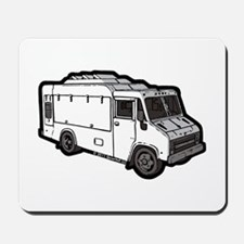 Food Truck: Basic (White) Mousepad