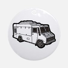 Food Truck: Basic (White) Ornament (Round)