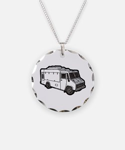 Food Truck: Basic (White) Necklace