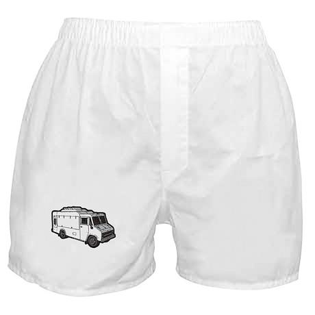 Food Truck: Basic (White) Boxer Shorts