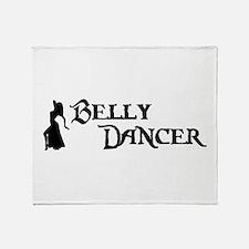 Belly Dancer Pose Throw Blanket