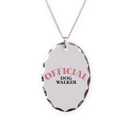 Official Dog Walker Necklace Oval Charm