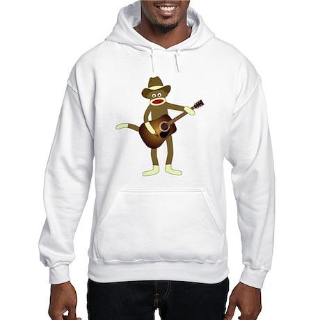 Sock Monkey Country Music Hooded Sweatshirt