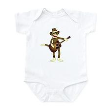 Sock Monkey Country Music Infant Bodysuit
