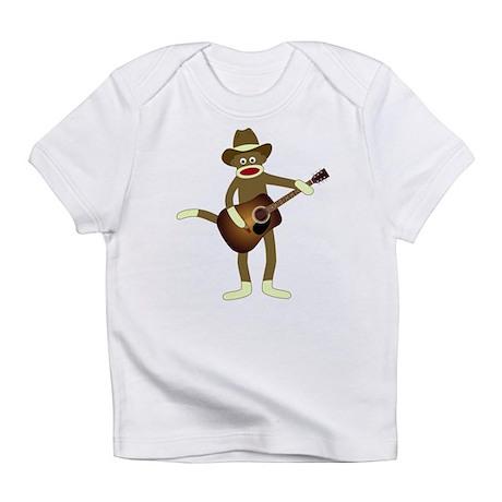 Sock Monkey Country Music Infant T-Shirt
