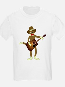 Sock Monkey Country Music T-Shirt