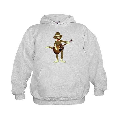 Sock Monkey Country Music Kids Hoodie