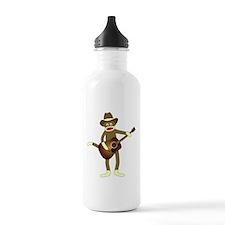Sock Monkey Country Music Water Bottle