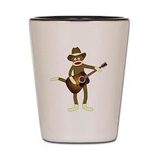 Sock Monkey Country Music Shot Glass