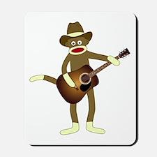 Sock Monkey Country Music Mousepad