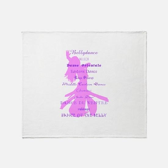Names of Bellydance pink & pu Throw Blanket