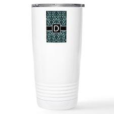 Monogram Letter D Travel Mug