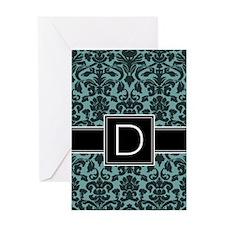 Monogram Letter D Greeting Card