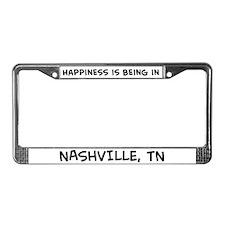 Happiness is Nashville License Plate Frame