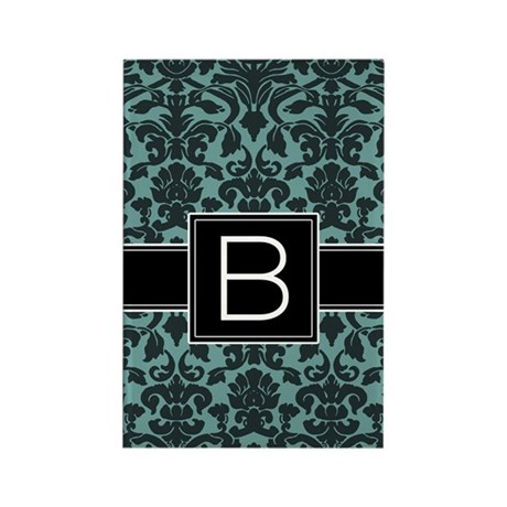 Monogram Letter B Rectangle Magnet