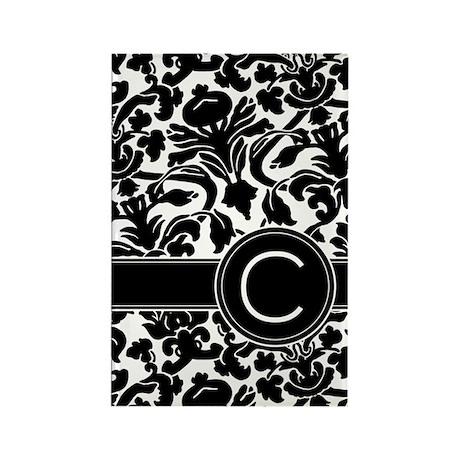 Monogram Letter C Rectangle Magnet