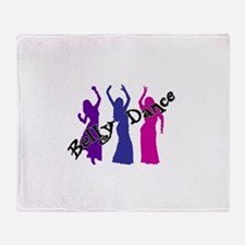 Belly Dance Trio Throw Blanket
