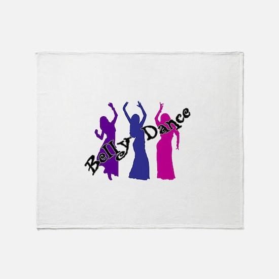 Belly Dance Trio Throw Blanket
