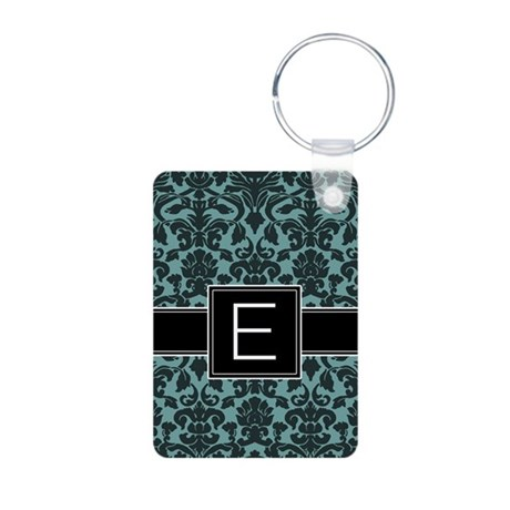 Monogram Letter E Gifts Aluminum Photo Keychain