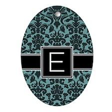 Monogram Letter E Gifts Ornament (Oval)
